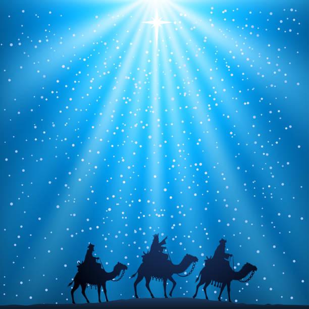 ilustrações de stock, clip art, desenhos animados e ícones de nativity christmas scene - reis magos