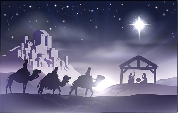ilustrações de stock, clip art, desenhos animados e ícones de nativity cena de natal - reis magos