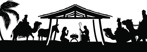 Download Best Nativity Silhouette Illustrations, Royalty-Free ...