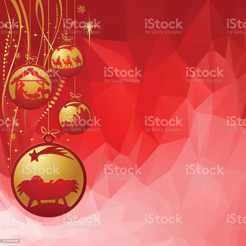 Nativity Ornament vector art illustration