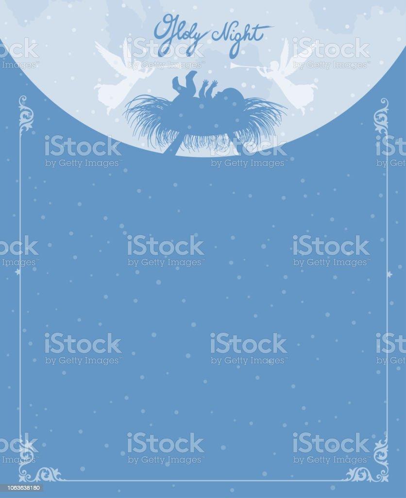 Nativity Scene - Baby Jesus vector art illustration