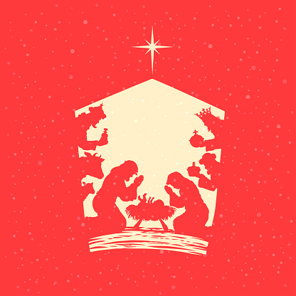 Nativity Scene. Birth of Christ