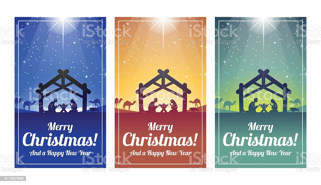 Nativity Scene Christmas Cards