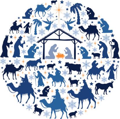 Nativity Scene Collage