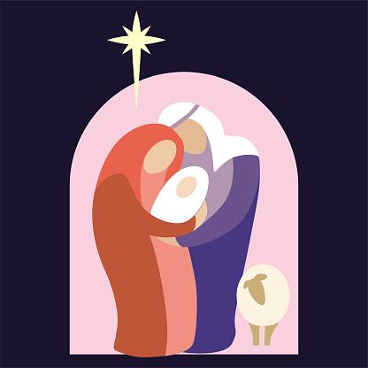 Nativity Scene of Holiday Holy Night Christmas