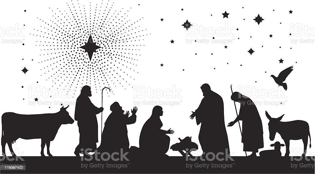 Nativity Scene Stock Illustration - Download Image Now - iStock