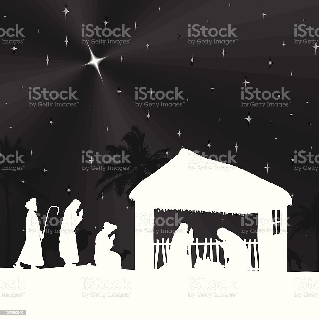Nativity Scene royalty-free nativity scene stock vector art & more images of animal
