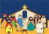 Nativity Scene with Characters Icons