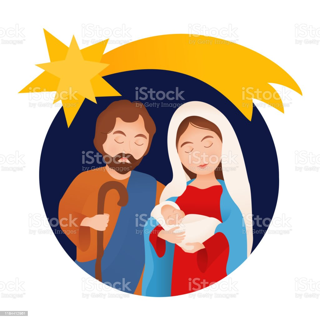 Nativity Scene With Holy Family Stock Illustration Download Image Now Istock