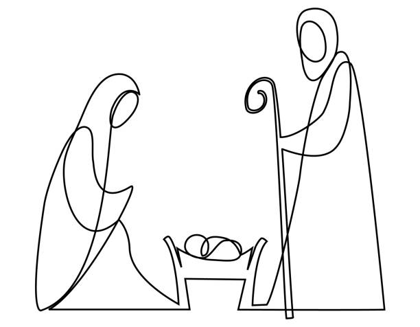 best nativity scene illustrations royalty free vector. Black Bedroom Furniture Sets. Home Design Ideas