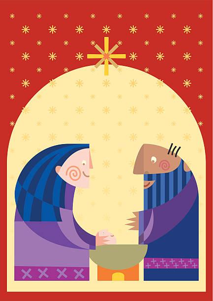 ilustraciones, imágenes clip art, dibujos animados e iconos de stock de nativity - tintanegra00