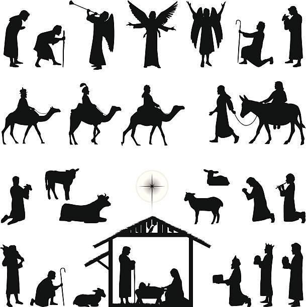 ilustrações de stock, clip art, desenhos animados e ícones de nativity - reis magos