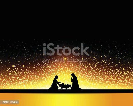 Nativity Scene. EPS 10.