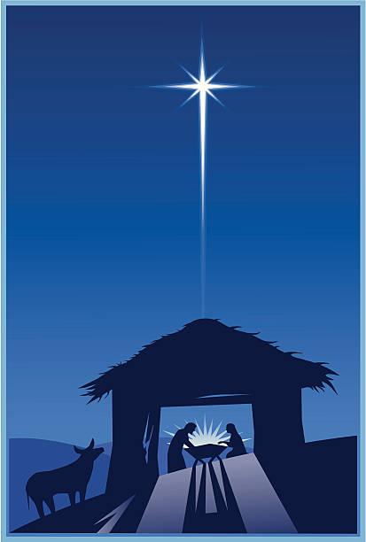stockillustraties, clipart, cartoons en iconen met nativity - kerstster