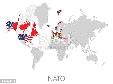istock Nato on world map 523202473