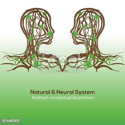 175407085 istock photo Natural and neural system, abstract conceptual illustration 514467970