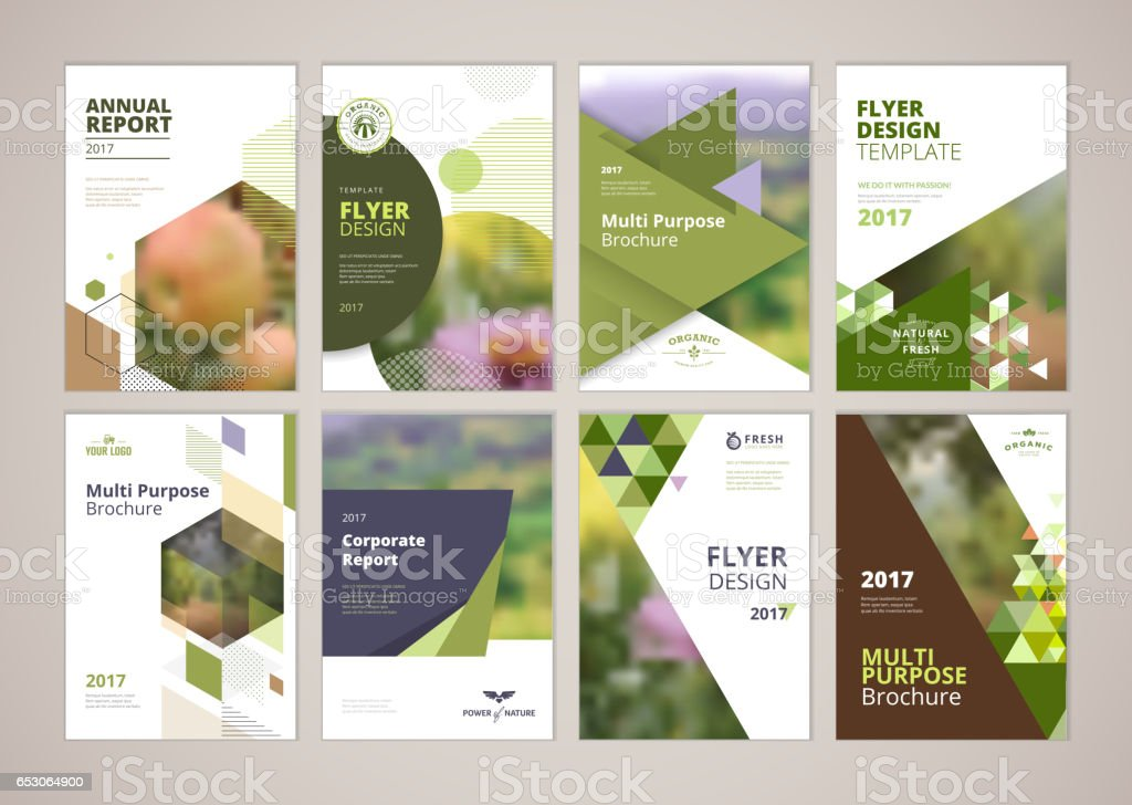 Natural And Organic Products Brochure Cover Design And Flyer Layout