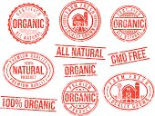 istock Natural and organic - rubber stamps 187828440