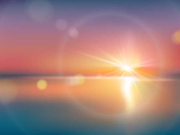 レンズのフレアで、明るい日光の下で自然な背景 - 朝日点のイラスト素材/クリップアート素材/マンガ素材/アイコン素材