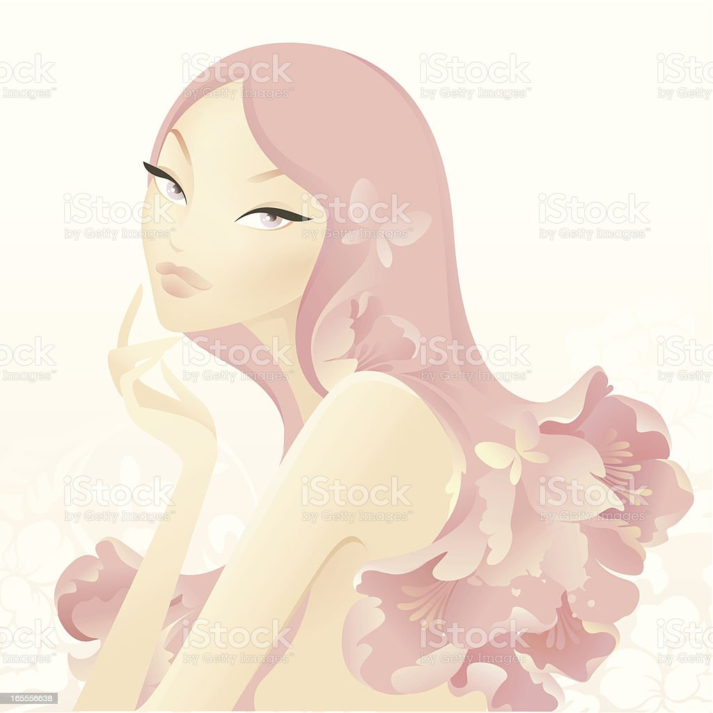 Natural Beauty (Aromatherapy) royalty-free stock vector art