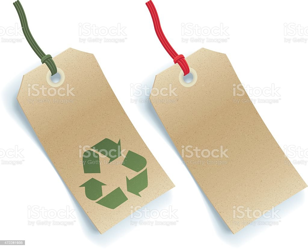 Natural Card Recycle Labels royalty-free stock vector art