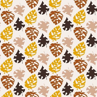 Natural colors floral seamless pattern vector