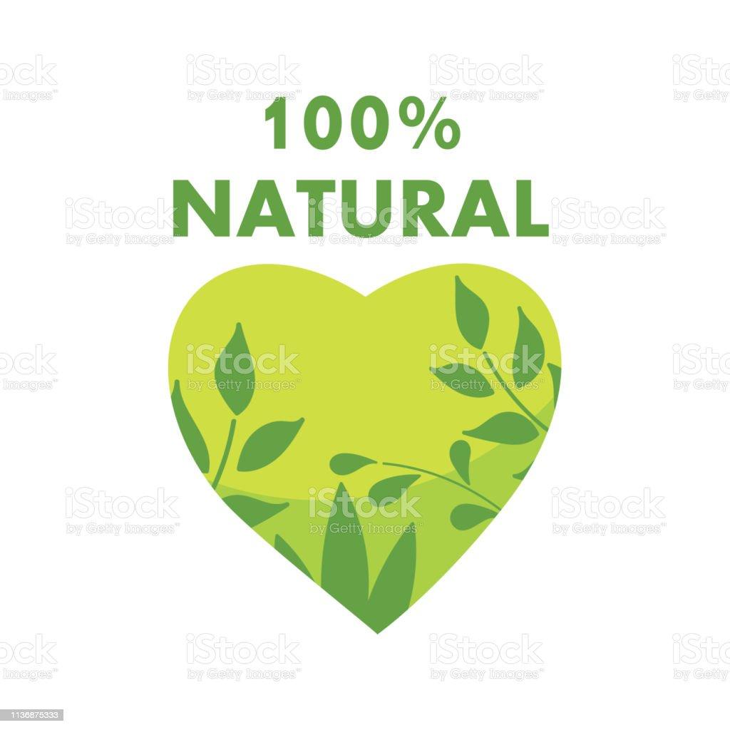 Ilustración De 100 Natural Frase Conceptual Para Banners
