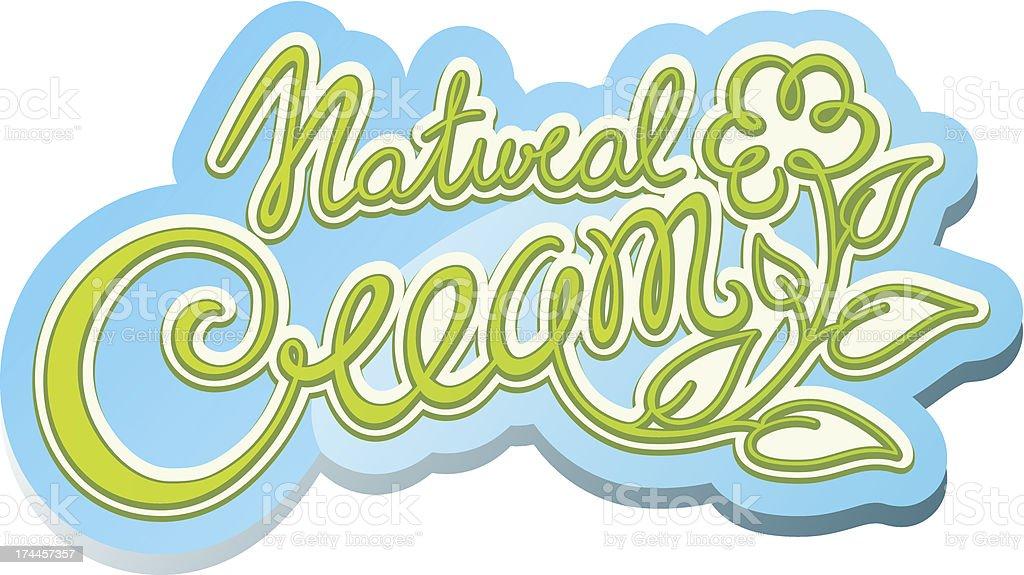 Natural cream label royalty-free stock vector art