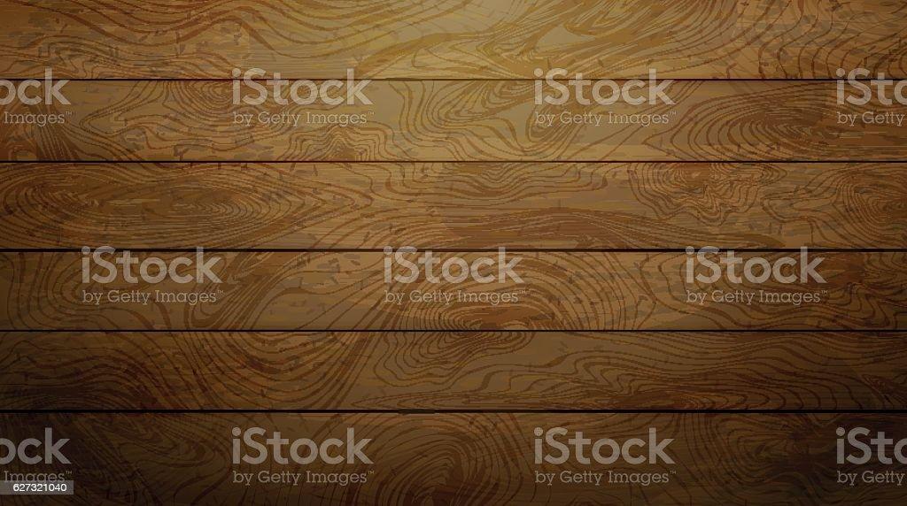 Natural Dark wood texture. vector art illustration