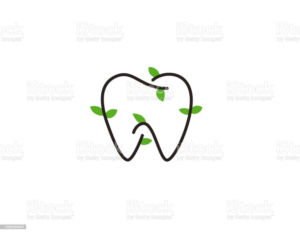 Diseño Dental Natural - ilustración - ilustración de arte vectorial