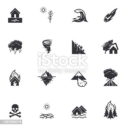 Black vector pictograms isolated on white