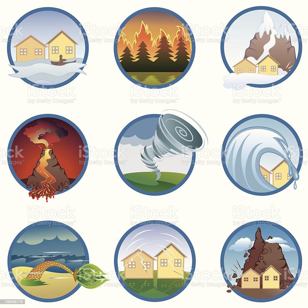 Natural disasters royalty-free stock vector art