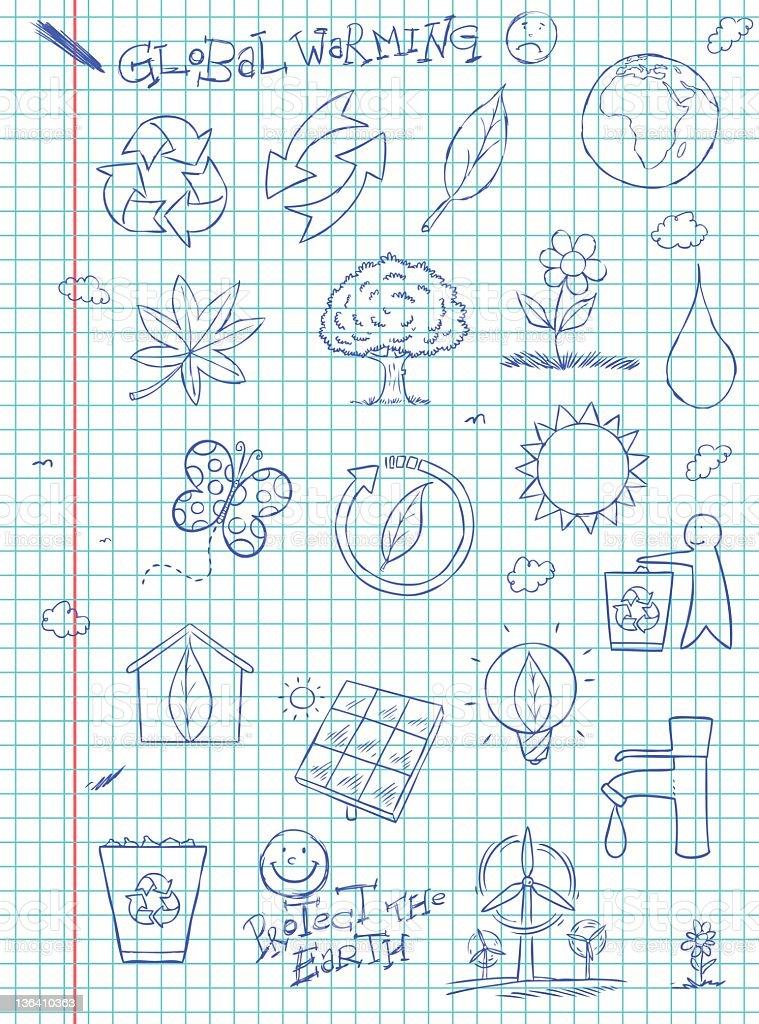Natural Doodles royalty-free stock vector art