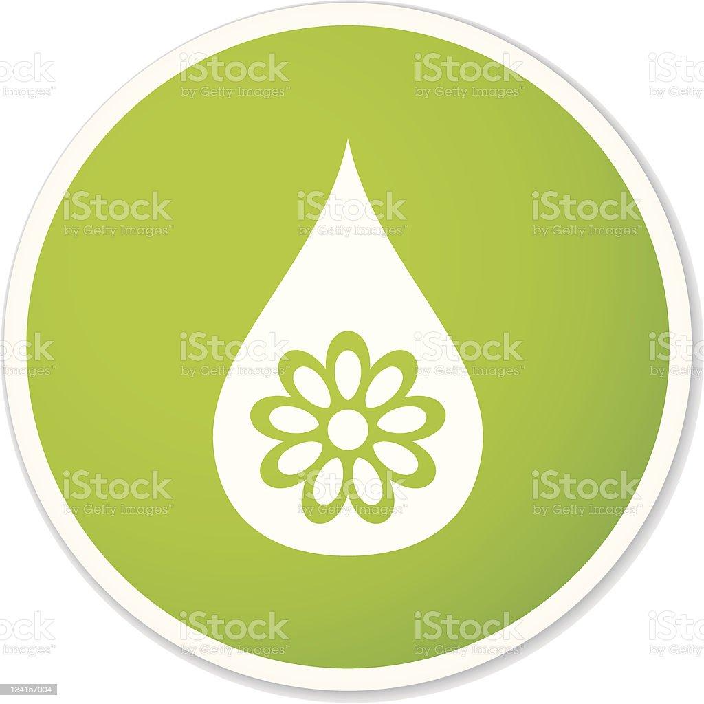 natural drop sticker royalty-free stock vector art