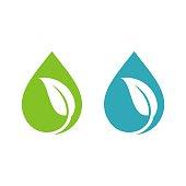 Natural Drop Water Spa Logo Template Illustration Design. Vector EPS 10.