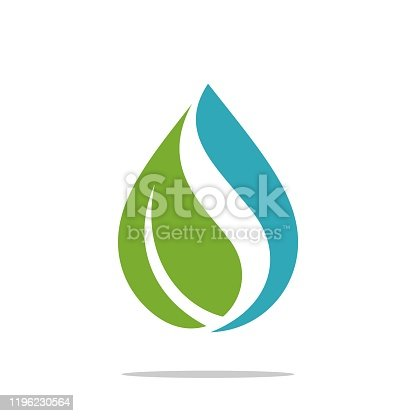 istock Natural Drop Water Spa Logo Template Illustration Design. Vector EPS 10. 1196230564