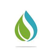 istock Natural Drop Water Spa Logo Template Illustration Design. Vector EPS 10. 1196230564