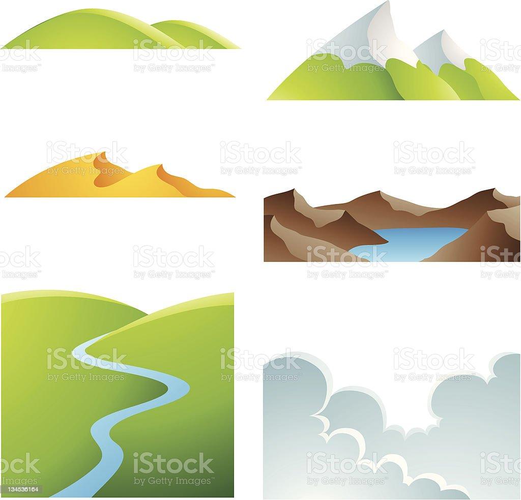 Natural Earth Landscapes vector art illustration