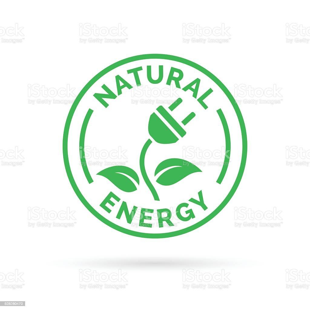 Natürliche Die Elektrische Energie Symbol Symbol Mit Elektrische ...