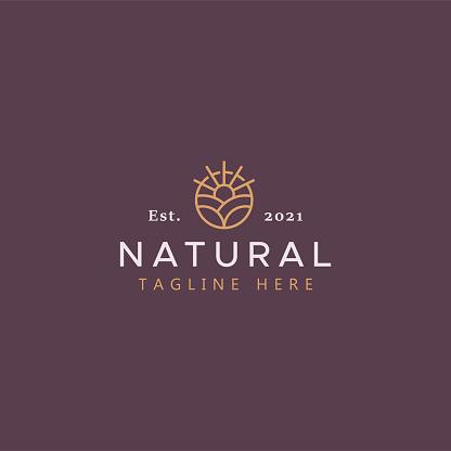 Natural Farm Agricultural Creative Logo Template