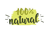 Natural Food Logo. Raw, Healthy Food Badge, tag for Cafe, Restaurants and Packaging