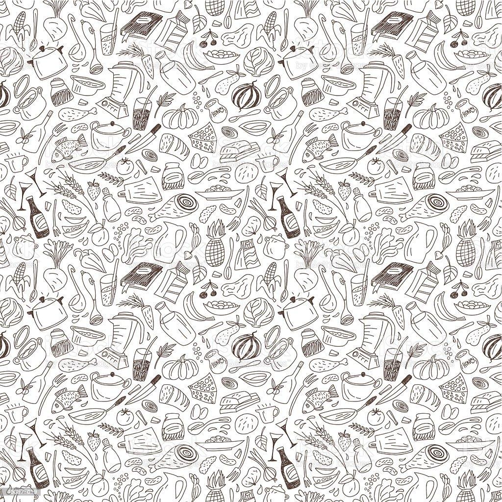 Patrón sin costuras de alimentos naturales - ilustración de arte vectorial