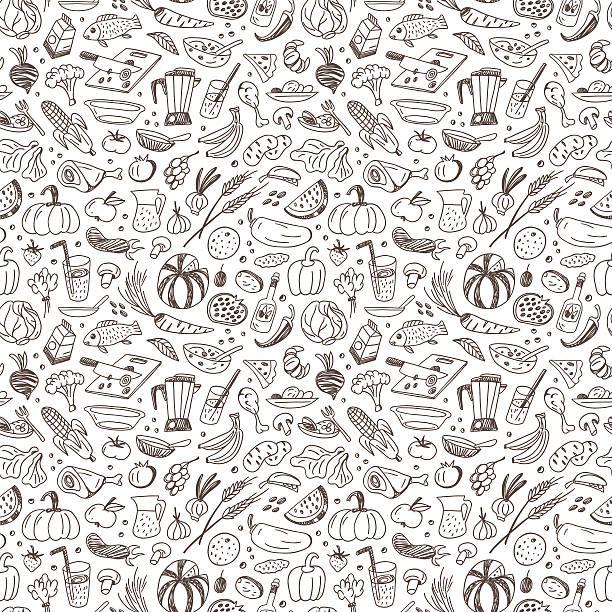 natural de alimentos-seamless vector de fondo - ilustración de arte vectorial