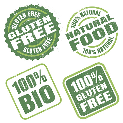 Natural Food rubber Stamps.