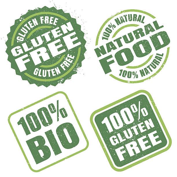 Natural Food Stamps vector art illustration