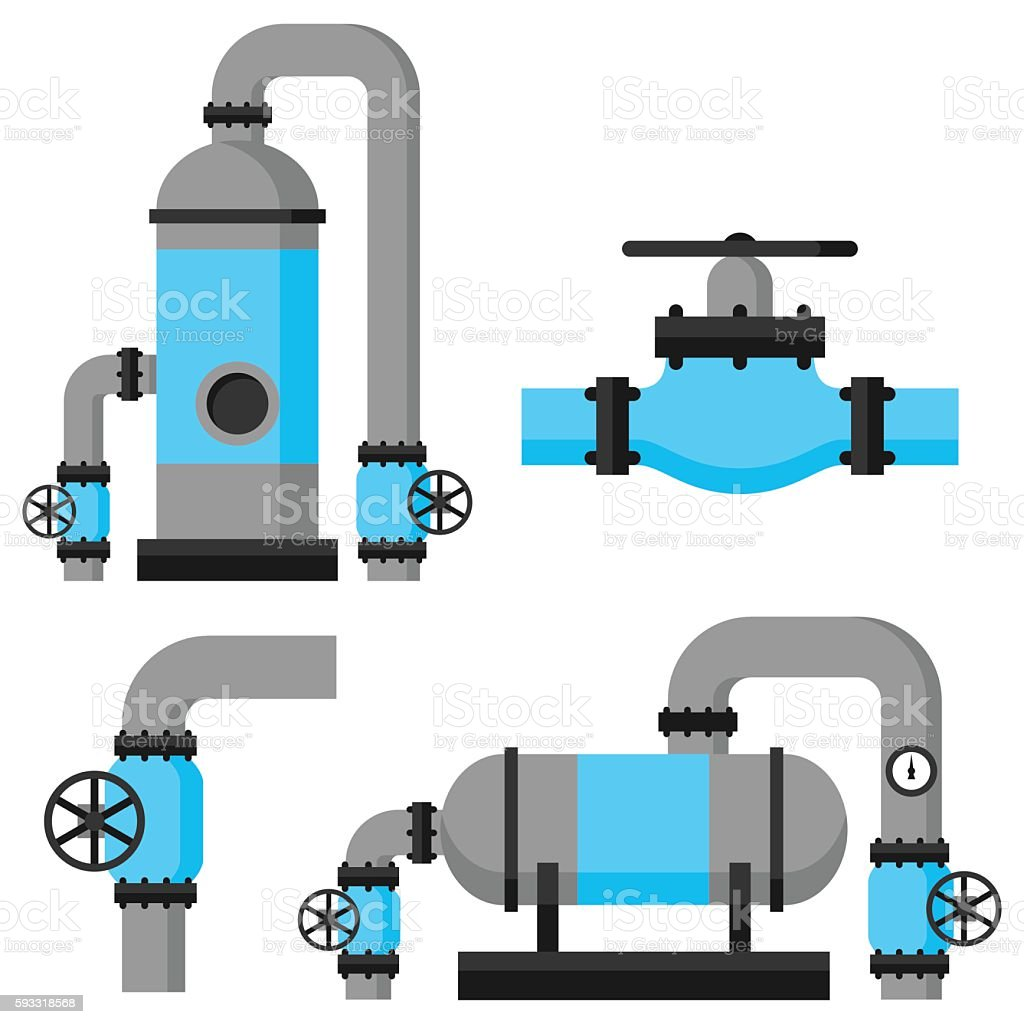 Natural Gas Heat Exchanger Control Valves And Storage Set Of Stock ...