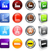 Natural Gas Industry vector button set