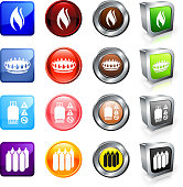 Natural Gas royalty free vector button set