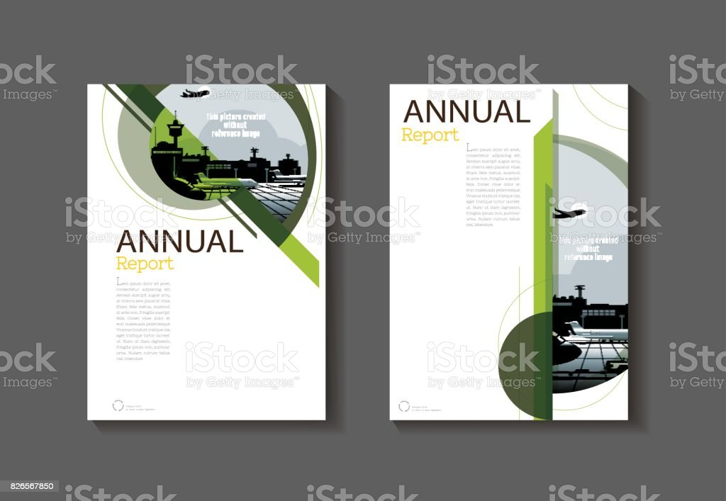 natural green abstract cover modern cover book brochure template