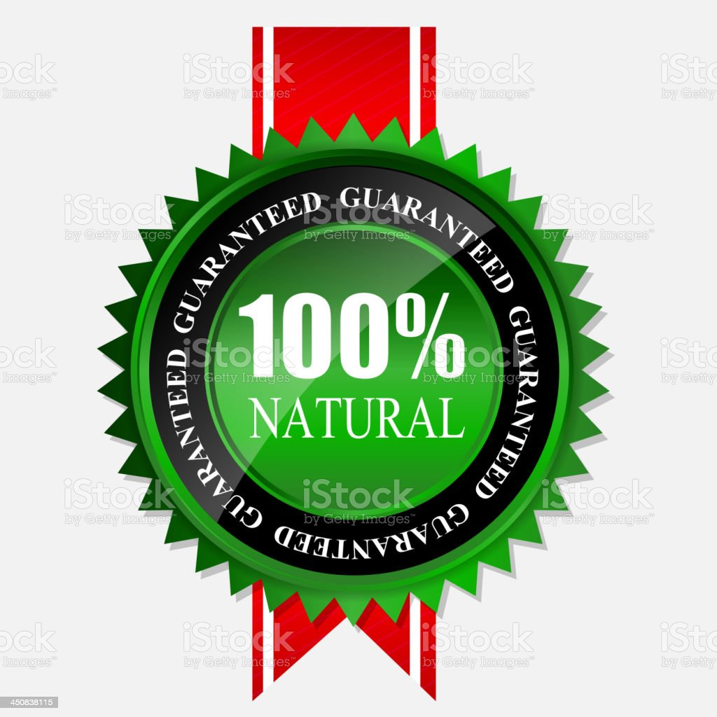 100% natural green label isolated on white.vector illustration royalty-free 100 natural green label isolated on whitevector illustration stock vector art & more images of badge